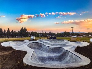 Lewistown mt skatepark - Photo Courtesy of Evergreen Skateparks