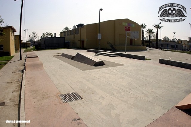 Nickerson Gardens Skate Park - Los Angeles, California, USA