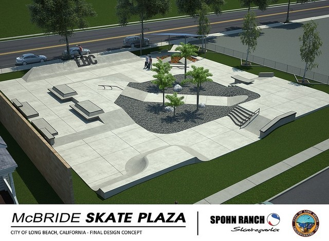 McBride Skate Park Plaza - Long Beach, California