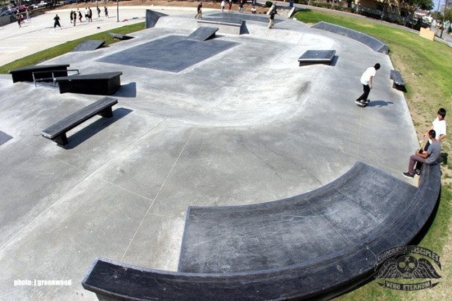 Arthur Lee Johnson Memorial Park Skatepark - Gardena, Callifornia, USA