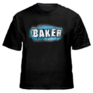 Baker - Sprayed Logo T Black Short Sleeve Logo on Front
