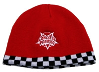 Concrete Disciples Embroidered Logo Checkered Beanie