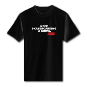 Juice Magazine - Keep Skateboarding A Crime T
