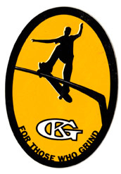 Grind King 2.25 in x 3.25 inch Sticker
