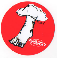 Hosoi Foot Sticker