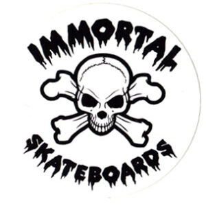 Immortal Skateboards #1 Sticker