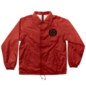 Independent Axiom Coach Windbreaker Jacket - Red