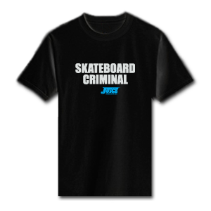 JUICE - Skateboard Criminal T-Shirt – Black