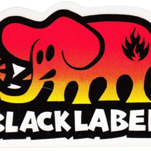 Black Label Elephant Fade Decal/Sticker Medium