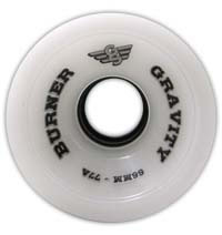 Gravity - Burner White - Skateboard Wheels 66mm / 77a
