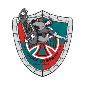 Independent Lance Mountain Shield Decal/Sticker.