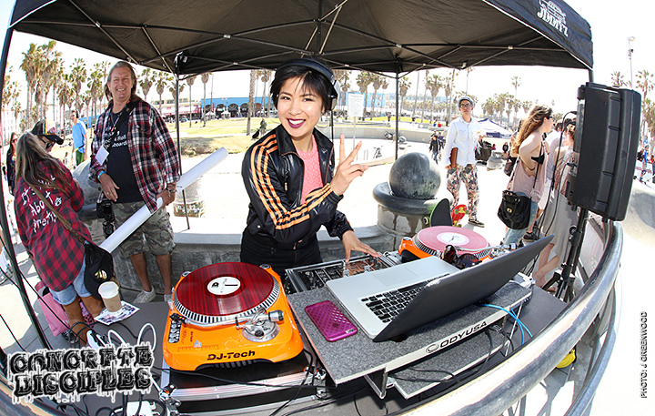 DJ KRZA kept the tunes going all day.