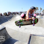 Julie Westfall, frontside air over the channel
