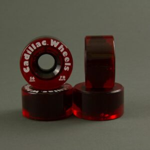 Cadillac Skateboard Wheels - Red Color 56mm