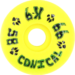 DOGTOWN K-9 58mm Wheels 99a Yellow