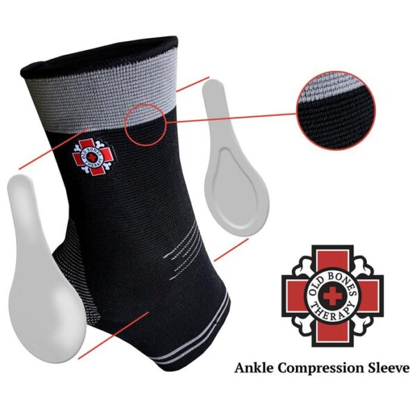 Old Bones Therapy Ankle Compression Sleeve - Knitted CompressionSupport Sleeve